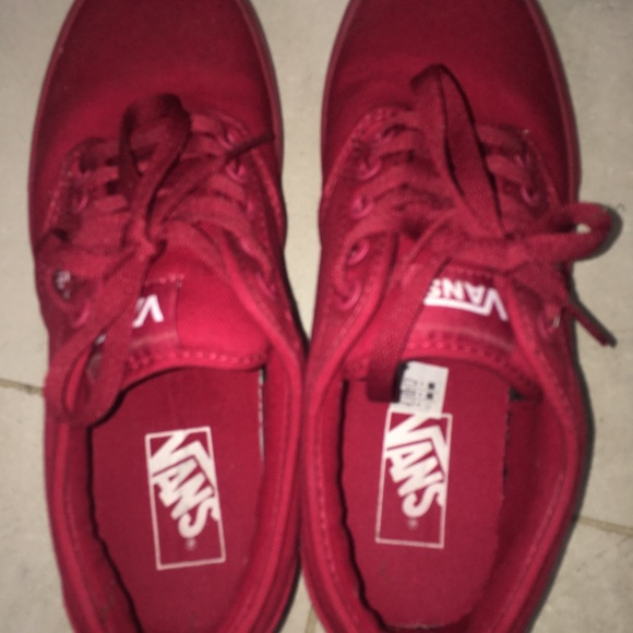 Red Men s Atwood Mono Shoes Vans Sneakers. M 5b010d855512fdde0cbe09db 449c44157